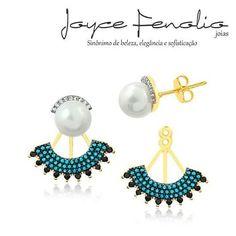 Acesse: www.joycefenolio.com.br Maravilhoso Brinco em Banho de Ouro 18k com Zirconias Turquesa, Black e Cristal com Pérola em Aplique de Ródio Negro ❤ ✅Pedidos via direct ou WhatsApp 19 984289457 ✅Entregas para todo o Brasil!!! #semijoias #joycefenoliojoias #luxo #tendencia #tops #elegant #modafeminina #stylish #bomdia