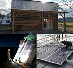 Solar panel garage that powers electric cars and houses a green-house to grow produce