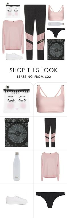 """""""Yoga"""" by shoelover220 ❤ liked on Polyvore featuring Miss Étoile, Onzie, Victoria's Secret, S'well, Sweaty Betty, Superga, Patagonia and yoga"""