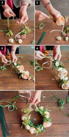 kaip pasidaryti lankeli su gelemis3 Kaip pasidaryti lankelį su gėlėmis