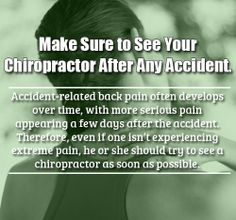 Make Sure To See Your Chiropractor After Any Accident. Visit us at Tebby Chiropractic and Sports Medicine Clinic — in Charlotte, NC, United States.