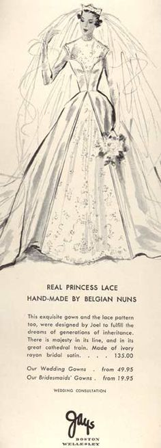 1951 Jays Bridal advertisement