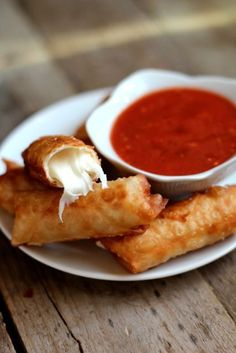 Wonton Mozzarella Sticks. Although simple. these are delicious. I typically have an order when I go to an izakaya.