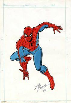 Dibujo representativo de Spiderman de Romita - Visit to grab an amazing super hero shirt now on sale! Marvel Comic Universe, Marvel Comics Art, Comics Universe, Marvel Heroes, Amazing Spiderman, Spiderman Art, Comic Books Art, Comic Art, Spiderman Costume
