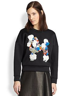 3.1 Phillip Lim Embellished Poodle Cropped Sweatshirt