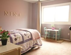 Here is my experience with Revere Pewter and the coordinating paint colors I chose for my entire house. Lots of pictures included! Warm Bedroom Colors, Girls Bedroom Colors, Neutral Paint Colors, Bedroom Paint Colors, Paint Colors For Home, Gray Paint, Kids Bedroom Paint, Girls Room Paint, Girl Room