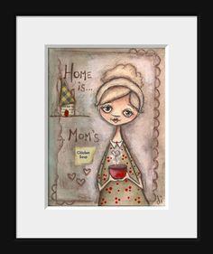HAPPY MOTHER'S DAY! Print of my original painting   Moms Chicken Soup ©dianeduda/dudadaze