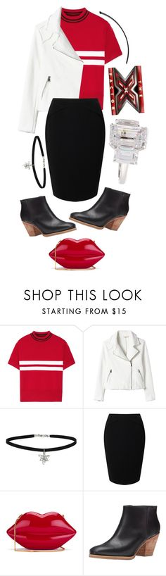"""""""The X Factor UK"""" by siamesecat-1 ❤ liked on Polyvore featuring Tim Coppens, Miss Selfridge, Jacques Vert, Lulu Guinness, Rachel Comey and Fantasia by DeSerio"""