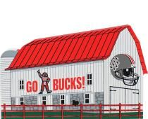 Cats Meow.Go Bucks! Barn with Ohio State Football Helmet