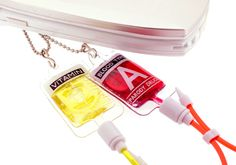 Strapya World : Blood Drip Phone Strap (Type-Ab) ($6.00) - Svpply  I think I'd have to go for just the blood one... the vitamin bag looks too much like PEE! Lol