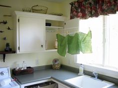 Laundry Lines When You Need Them & A Cabinet When You Don't
