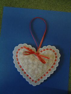 A little lavender filled parchment heart to keep in  dresser drawers!