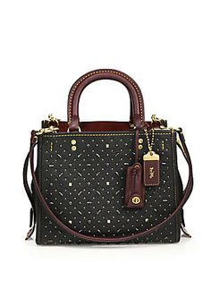 COACH Rogue Small Riveted Leather Bag