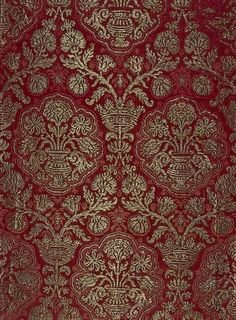 Brocade with a Pomegranate Pattern, Italy or Spain, 16th century The State Hermitage Museum