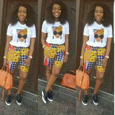 Ankara Shorts to Rock this September by our African Beauty Queens – WearitAfrica – African Fashion Dresses - 2019 Trends African Dresses For Women, African Attire, African Fashion Dresses, African Wear, African Women, Ankara Fashion, African Outfits, African Print Pants, African Print Dress Designs