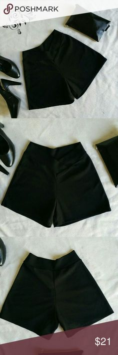 Black dress shorts vintage