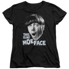 Three Stooges - Moe Face Short Sleeve Women's Tee