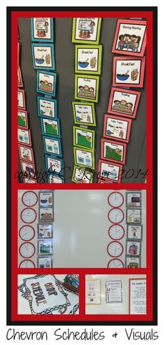 Chevron themed classrooms for students needing visual supports can now have schedules that match their theme.  Package includes 15 picture schedules, 8 written schedules, group schedules and check-in visuals, classroom rules, classroom jobs, visual cueing belts and other visuals. $11