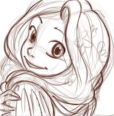 Rapunzel Pencil Sketch #draft #sketch #character