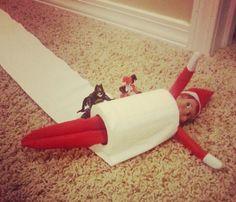 Elf on the Shelf Idea!