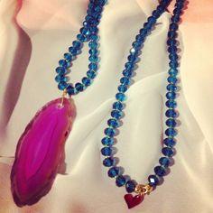 Collar agata by Luz Marina Valero