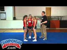 Basic #Cheerleading Stunts, Dismounts and Transitions Part 2 #cheerleadingstunting