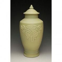 Celtic Dragon Ceramic Urn for Ashes Celtic Dragon, Celtic Art, Islamic Art Calligraphy, Calligraphy Alphabet, Burial Urns, Josephine Wall, Graffiti Alphabet, Cremation Urns, Zentangle Patterns