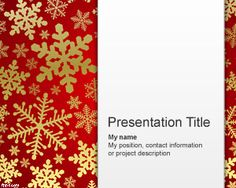 Snowflake PowerPoint Template #free #download or check other #Christmas #powerpoint #templates and #backgrounds like wreaths, angels, candles, deer, santa claus powerpoint backgrounds