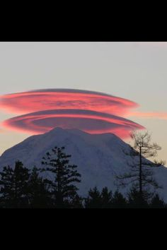 Lenticular clouds - Mt. Hood, Oregon