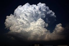 "Cloud in Oklahoma - photo by Jane ONeill; the photographer was ""stalking a 'sucker cell' [north] of the Ada storm that dropped a tornado…..blown away by this updraft!!"""