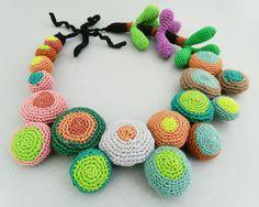 """Colier """" Colorful dreams """" de lida.accessories Breslo Crochet Necklace, Necklaces, Color, Jewelry, Accessories, Colour, Jewlery, Crochet Collar, Jewels"""