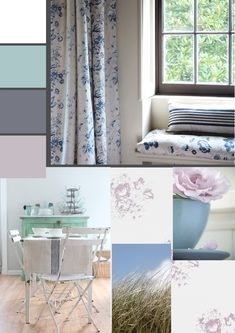 dreamy white, chippy vintage paint, easy beach and sand dune style Cabbages & Roses -The Paper Mulberry: If you dream of sand dunes and salty air...
