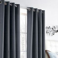These Grey Curtains Are Thick Perfect For Blocking The Sun Out