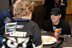 Sidney Crosby, as Pittsburgh Penguins host Kids Luncheon