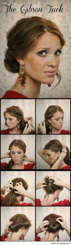The Gibson Tuck - LikeaLady.net  -girl hair styles