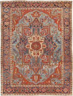 "KEIVAN WOVEN ARTS,   Type :Serapi Origin :Iran  Size : 8'9""x11'6""  Circa :1900"