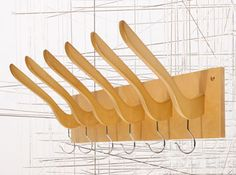 """Hanging Coat Rack at Urban Outfitters. Site says """"This product is not available to view""""} Hanging Coat Rack, Coat Hanger, Hanger Rack, Recycled Furniture, Cheap Furniture, Best Clothes Hangers, Luminaria Diy, Furniture Restoration, Urban Outfitters"""