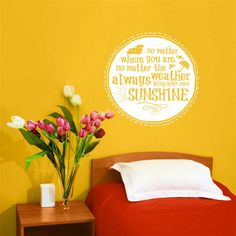 Always Bring Your Own Sunshine - Quote - Wall Decals Stickers Graphics