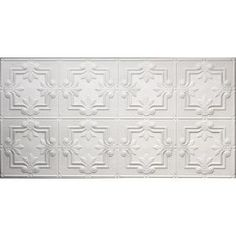 Global Specialty Products Dimensions Faux 2 ft. x 4 ft. Glue-up Tin Style White Ceiling Tile for Surface Mount 321-50 at The Home Depot - Mobile