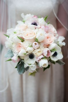 Anemone and Tulip Bridal Bouquet