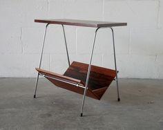 Mid century mag rack/telephone table