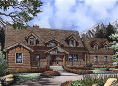 Appealing Log Design with Options - 6473HD | 1st Floor Master Suite, Bonus Room, CAD Available, Corner Lot, Craftsman, Log, Mountain, PDF, Sloping Lot | Architectural Designs