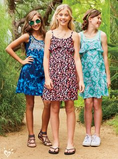 Sundresses, FUN dresses! Rain or shine, our comfy knit styles are ready to play!