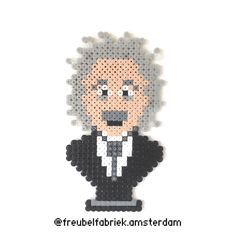 #creativity is #intelligence having fun #einstein #alberteinstein original #design from @puxxlebyyoyo #wallart #hamabeads #nabbibeads #sescreative #perlerbeads #bügelperlen #strijkkralen #pärlplatta #wizkids #theoryofrelativity #freubelen #freubelfabriekamsterdam #makersgonnamake #diy #worldofnerdart #pattern on my #facebookpage #nobel