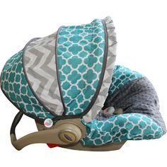 What a great idea! Car seat slip-covers you can move with baby to the toddler seat! Great to use when using the same seat for boys and girls and