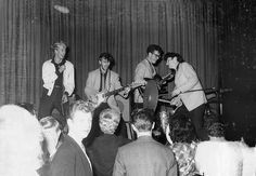 Rory Storm & The Hurricanes, October 1961. Supposedly at the Jive Hive.            (Ringo Starr, second to the left)
