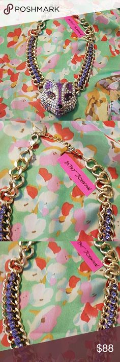 Statement necklace NWT collar This is a NWT Betsey Johnson statement necklace collar fox from the Imperial Princess collection beautiful glittery piece selling for Betsey jewelry pieces I need questions welcomed feel free to make a offer thank you 😀 Betsey Johnson Jewelry Necklaces