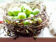 Grapevine and wire basket by Julie Shaw