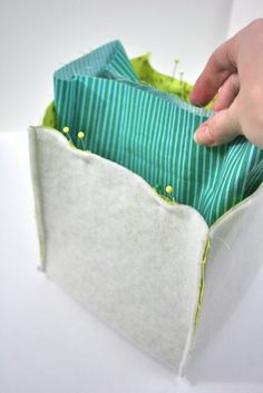"fabric ""buckets"", use up stash and make a great gift."