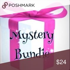 Mystery bundle I have brought back my mystery bundles. Who doesn't like a surprise? If you don't fit/like something you can resale or gift so someone can enjoy it. I've sold quite a bit of mystery bundles before with happy customers. Sizes, brands, amount of items, will very. No promised brand or sizes however I do try to make sizing somewhat to listing. At least 2-3 items minimum but may be more. Sorry mystery bundles cannot be returned sold as is. Items type and style is a surprise. Worth…
